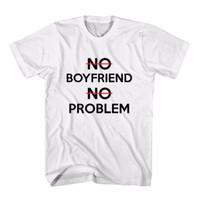Tumblr Tee / T-Shirt / Kaos Wanita No Boyfriend No Problem