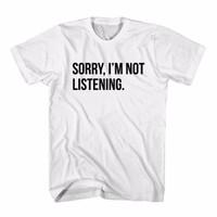 Tumblr Tee / T-Shirt / Kaos Wanita Sorry I'm Not Listening