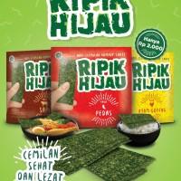 Snack Rumput Laut (Nori) Ripik Hijau 3g Rasa Sapi