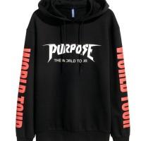 Jaket Hoodie Purpose Tour Justin Bieber - Hitam
