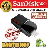 Jual SANDISK FLASHDISK OTG 16GB 130MB/S ULTRA DUAL DRIVE USB 3.0 16GB Murah
