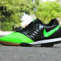 Nike Lunar Gato Hyperfuse / Sepatu Futsal / Hitam Ijo Stabil0-RN0299