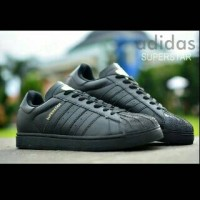 Adidas Superstar Grade Ori / Warna Full Hitam /Sepatu Sekolah-RN0284