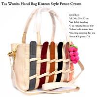 Jual hand bag wanita korean style fence fruit cream Murah