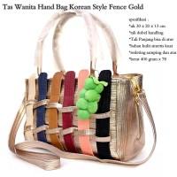 tas wanita korean style fence fruit gold
