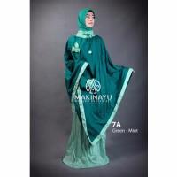 Mukenah Ponco Makinayu Green Mint Berkualitas