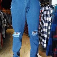 Ripped hurley Jeans slimfit pria celana levis sobek biru muda distro