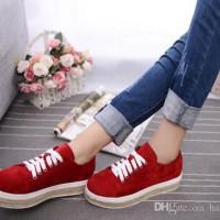 Sepatu Wanita - Flatshoes - Sepatu Casual SwedGo  SG-01  Merah 9ee5e4756f