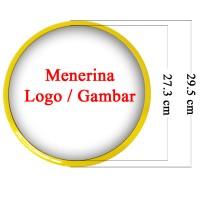 Souvenir Promosi Logo Custom Jam Dinding 29.5cm