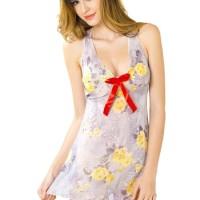 L-827 Colourfull Cute Flowers Lingerie Dress