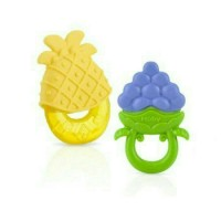 Nuby Teether Set Fruit Combo Pack 2In1 Gigitan Bayi -Sale Off