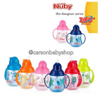 Nuby Flipit Twin Handle With Bristles Botol Minum Sedotan Anak 270Ml