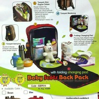 Tas Ransel Bayi Baby Scots Back Pack With Folding Changing Pad -Harga