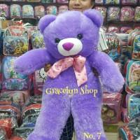 Boneka Teddy Bear Besar Limited Colour (Ungu, Hijau dan Biru)