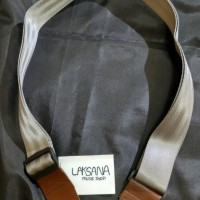Strap / tali Gitar Silver & Coklat