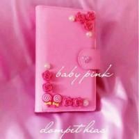 dompet wanita kulit sintetis multi fungsi (tempat uang+kartu+hp)