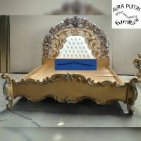 bed silver gold klasik