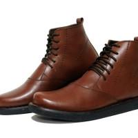 Sepatu Boots Pria Sepatu Dr Becco Moris Coklat Kulit