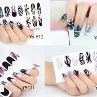 Nail art sticker / Nail sticker / Gold nail sticker / sticker kuku