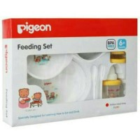 Pigeon Feeding Set komplit with training cup - tempat makan bayi