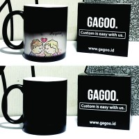 Kado Unik|Mug Bunglon Gelas Magic Ajaib Import | Cetak Custom - GAGOO