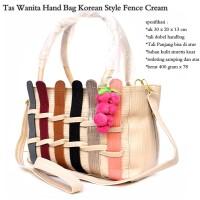Jual hand bag import korean style fence fruit cream Murah