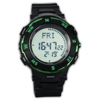 Jam Tangan Pria Sport Fortuner Compass black list green Original