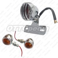 Paket Lampu Stop Tralis + Lampu Sen / Sein Motor Custom Japstyle Chrme