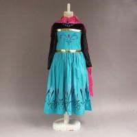 Jual Baju Dress Kostum Elsa Frozen Jubah Merah Murah