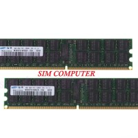 8GB (4GBx2) 2Rx4 Samsung ECC RDIMM Registered DDR2 667Mhz PC2-5300P