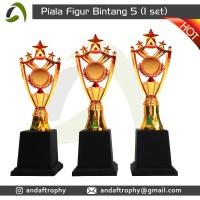 Piala/Trophy Figur 'Bintang 5' 1 Set
