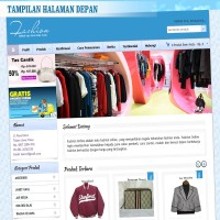 Website toko Online Fashion Biru