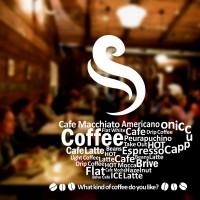 Cutting Sticker Coffee Type Cafe Resto Stiker Kaca Dinding Jenis Kopi