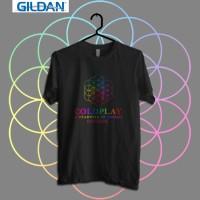 COLDPLAY AFOD Tour 2017 BANGKOK Kaos Band Printed in Gildan Shirt