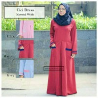 cici dress red || mininos outfit hijab