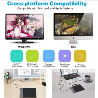 USB Drawing Board Tablet Pen PC Laptop Graphic Design Paint Animatio