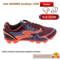 harga No 40 Speed Hatrick Aragones Maron/orange Sepatu Olah Raga Futsal Pria Tokopedia.com