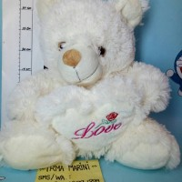 Jual second boneka bear LOVE Murah