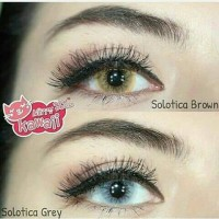 SOLOTICA GRAY BROWN KITTYKAWAII SOFTLENS