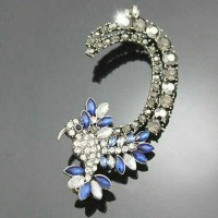 harga E019 Anting Punk Ear Cuff Blue Crystal Rhinestone Tokopedia.com