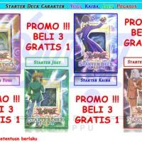 PROMO BELI 3 GRATIS 1 Starter Deck Yugi / Kaiba / Joey / Pegasus