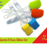 Kuas silicone + spatula