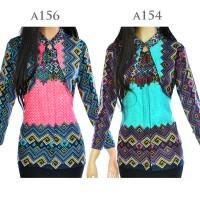 Jual Atasan Batik Tunik Blus Batik Blouse Cardigan Motif Songket A154 Murah