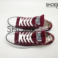 Sepatu Converse All Star LOW MAROON REAL PIC High Quality Harga Grosir