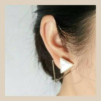 Jual ANTING TRIANGLE MARBLE GEOMETRI / ANTING KOREA Murah