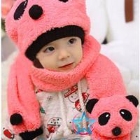 Topi Kupluk Dan Syal Anak / Topi Kupluk Dan Syal Anak Model Panda