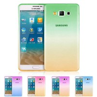 Samsung Galaxy E5 Gradient Rainbow Ultra Slim Soft Case Cover Gradasi