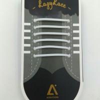 Tali Sepatu / Shoe Lace - Bahan Silicon PREMIUM [LazyLace Strg - Whte]