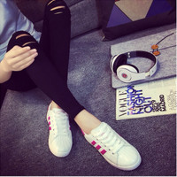 Sepatu Wanita SDS98 Sepatu Kets Warna PINK Size 37+A13 TRENDI