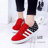 Sepatu Kest Wanita Motif Bintang SDS111 MURAH